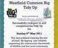 WCRA Big Tidy Up – 1st Annual even a big success