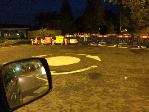Vicarage Road Closure causes chaos