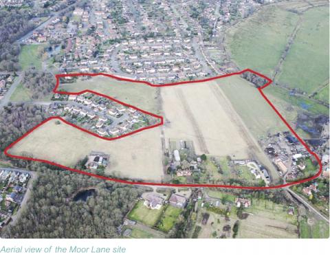 Proposed 'Moor Lane' housing development scheme