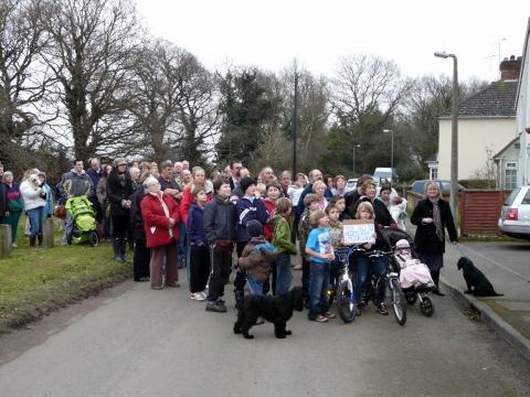 Moor Lane Access Protest  17 Feb 09