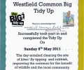 WCRA Big Tidy Up – 1st Annual even a big success