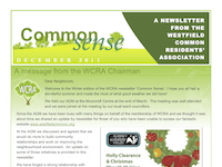 Latest Newsletter from WCRA – Dec 2011