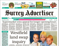 Surrey Advertiser covers Westfield Common Land Swap Inquiry