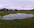 'Moor Lane' site resembles a duck pond due to rain (23 Dec 2012)