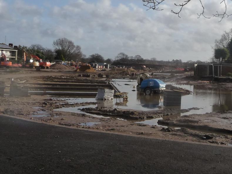 Kingsmoor Park waterlogged (5 Jan 2014)