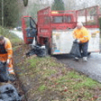 Flytipping removed from Westfield Common drainage ditch