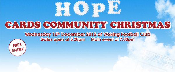Woking Football Club – Cards Community Christmas event | 16 Dec 15